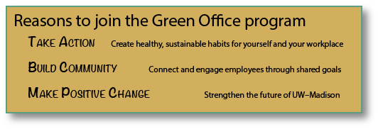 Reasons to join Green Office program