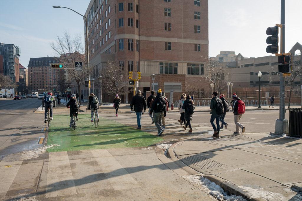 University Avenue bikers