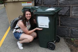 "Emily's Advice: ""Always recycle and compost your trash. But, if you can just not produce waste in the first place that would be most ideal."""