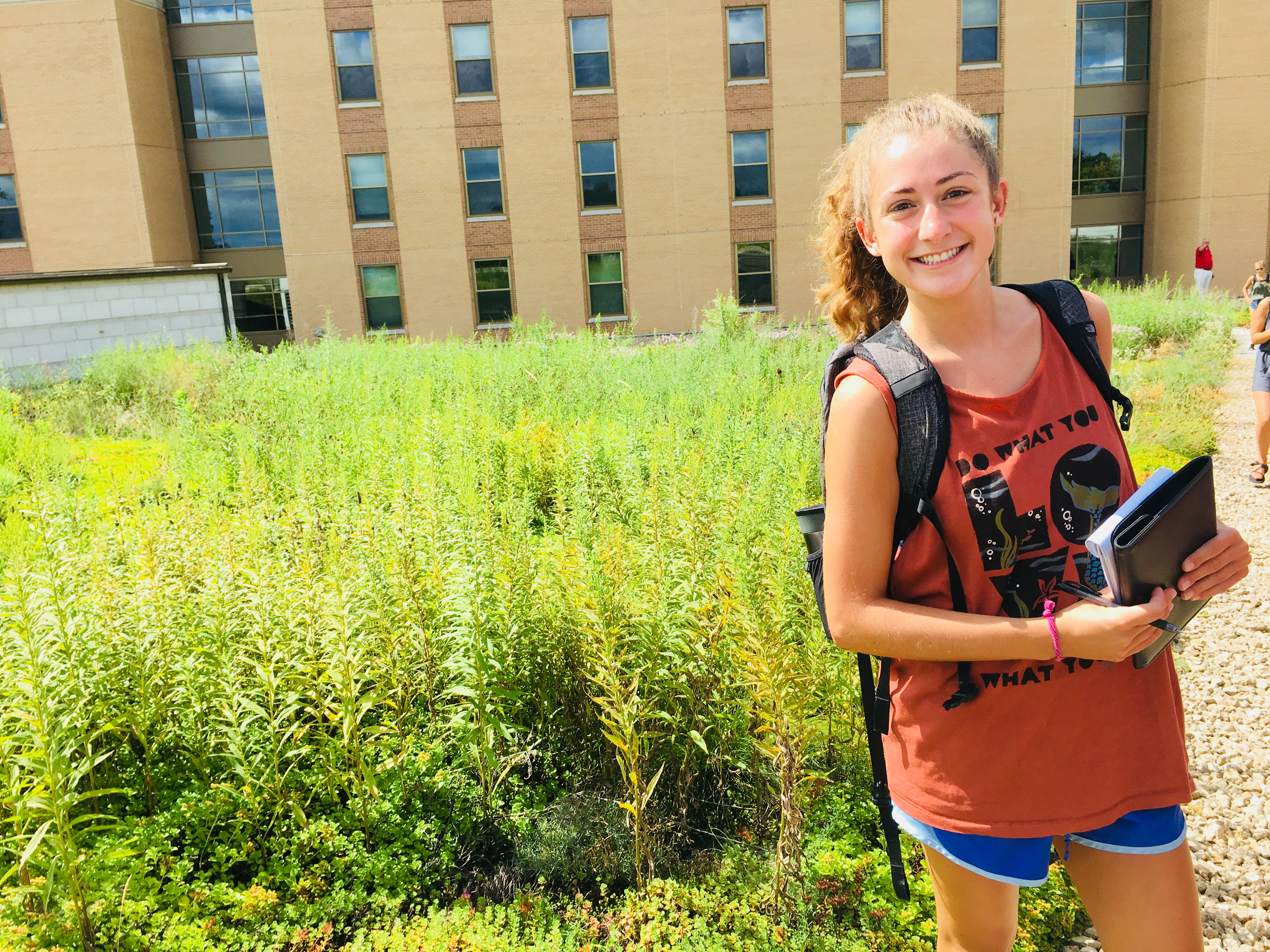 Jackie Olson, one of the Office of Sustainability interns is majoring in Landscape Architecture.