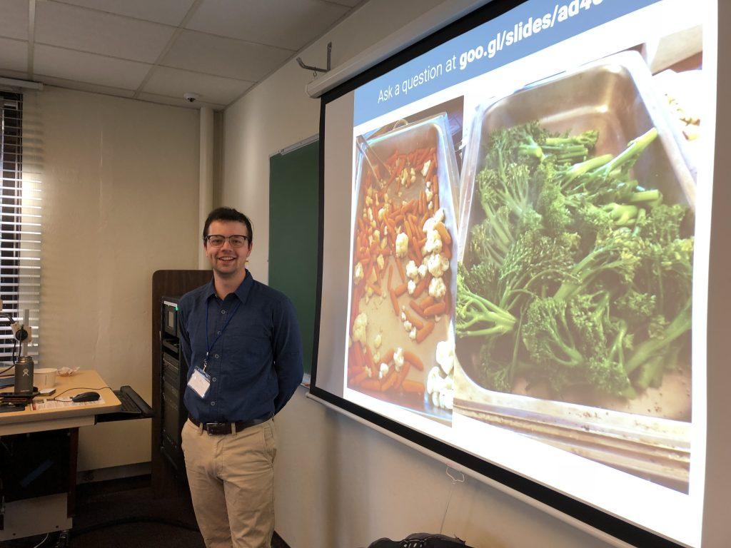 Tom Bryan giving his presentation at the SENCER Summer Institute.