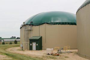 A digester tank at the Gundersen Envision facility. Photo by Trina La Susa.