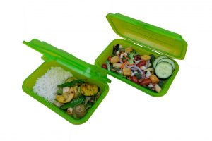 Reusable Ticket to Takeout containers. Photo by University Housing.